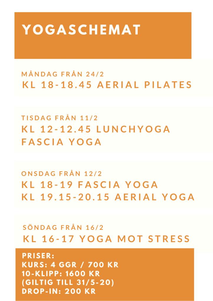 Yogaschemat och priser