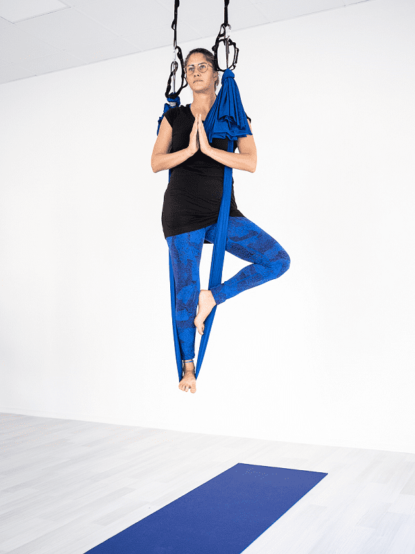Aerial yoga trädets position