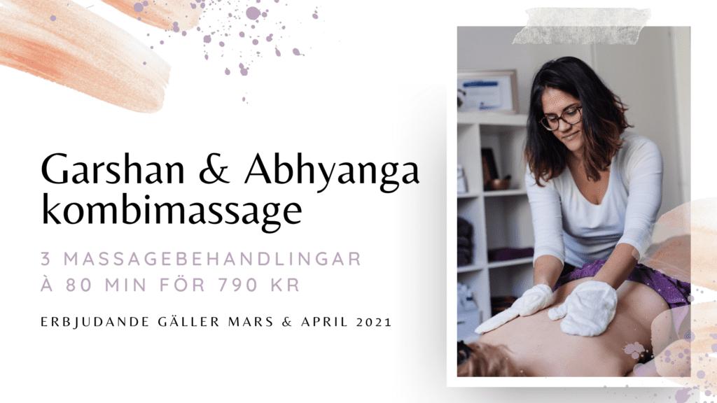 garshan abhyanga massageerbjudande